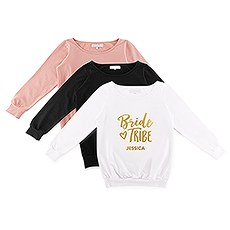 Personalized Bridal Party Wedding Sweatshirt - Bride Tribe