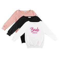 Personalized Bridal Party Wedding Sweater - Bride