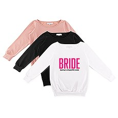 Personalized Bridal Party Wedding Sweatshirt - Glam Bride