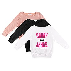 Personalized Bridal Party Wedding Sweatshirt - Sorry Not Sorry