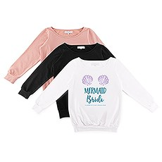 Personalized Bridal Party Wedding Sweatshirt - Mermaid Bride