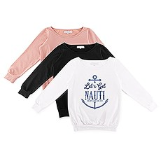 Personalized Bridal Party Wedding Sweatshirt - Let's Get Nauti