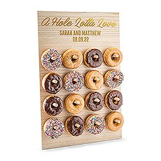 Personalized Wooden Donut Wall Display - Hole Lotta Love