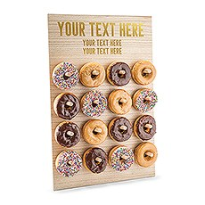 Personalized Wooden Donut Wall Display - Custom Text