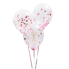 Latex Confetti Balloon Kit Party Decoration - Miss to Mrs - Set of 8