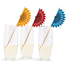 Paper & Wood Drink Swizzle Sticks - Fiesta Party - Set of 8