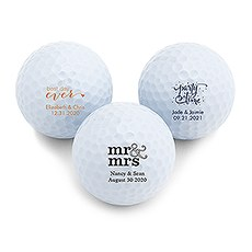 Personalized Golf Ball Wedding Favor