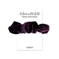 Women's Cute Custom Bridal Party Scrunchie - To Have And To Hold Your Hair Back