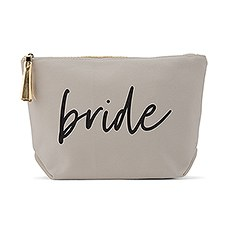 Light Gray Makeup & Toiletry Bag - Bride