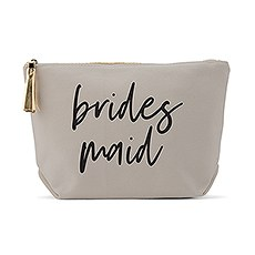 Light Gray Makeup & Toiletry Bag - Bridesmaid