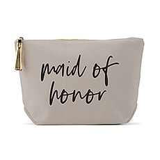 Light Gray Makeup & Toiletry Bag - Maid of Honor