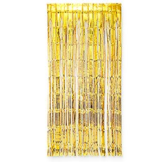 Metallic Foil Fringe Curtain Photo Backdrop - Gold