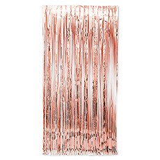 Metallic Foil Fringe Curtain Photo Backdrop - Rose Gold