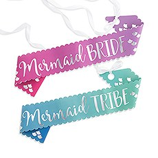 Paper Bachelorette Party Sash - Mermaid