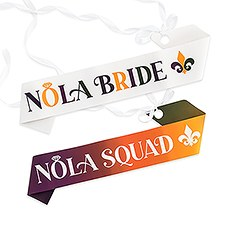 Paper Bachelorette Party Sash - New Orleans