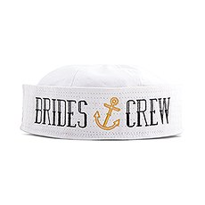 Nautical Bachelorette Party Sailor Hat - Bride's Crew