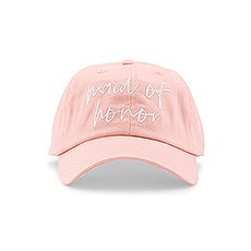 Women's Embroidered Bachelorette Party Dad Hat - Maid of Honor Script