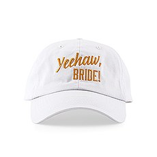 Women's Embroidered White Bachelorette Party Dad Hat - Yeehaw Bride