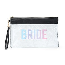 Large Clear Plastic Makeup Bag - Bride