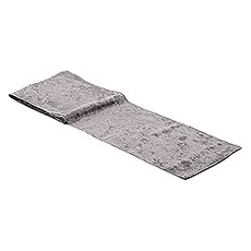 Velvet Table Runner - Silver