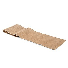 Rustic Burlap Table Runner - Natural