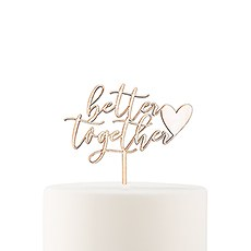 Natural Wood Cake Topper Decoration - Better Together