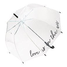 Large Clear Plastic Bubble Wedding Umbrella - Love is in the Air