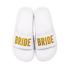 Women's Bridal Party Slide Sandals - Bride