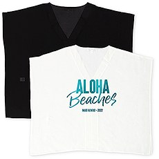 Personalized Sheer Swimsuit Cover-Up Beach Shirt Dress - Aloha Beaches