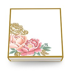 Large Modern Floral Bridal Party Gift Box with Magnetic Lid
