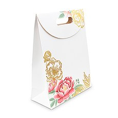 Paper Gift Bag with Handles - Modern Floral