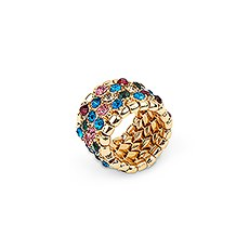 Multi-Color Rhinestone Bridal Party Ring