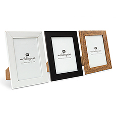 """Medium 5"""" x 7"""" Classic Picture Frame - Black, White, or Fabricated Wood"""