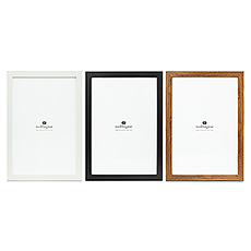"""Large 12"""" x 18"""" Classic Picture Frame - Black, White, or Fabricated Wood"""
