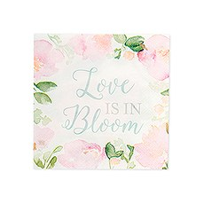 Cute Special Occasion Paper Party Napkins - Love is in Bloom - Set of 20