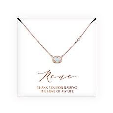 Personalized Bridal Party Pendant Necklace - Mother-In-Law Thank You