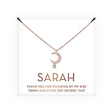 Personalized Bridal Party Pendant Necklace - Thank You