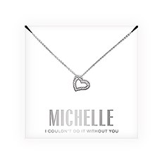 Personalized Bridal Party Pendant Necklace - Couldn't Do It Without You