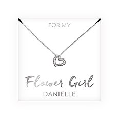 Personalized Bridal Party Pendant Necklace - Flower Girl