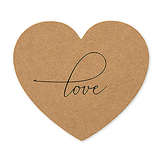 Heart Shaped Paper Drink Coasters - Love - Set of 12