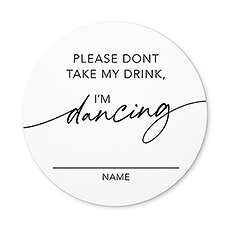 Round Paper Drink Coasters - I'm Dancing - Set of 12