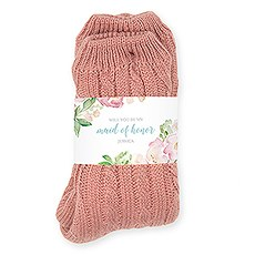 Personalized Cozy Sherpa Lined Cable Knit Slipper Socks - Floral Garden Party