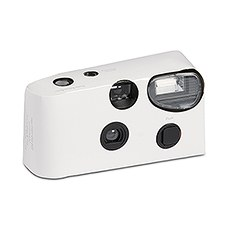 White Single Use Camera – Solid Color Design