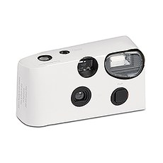 Disposable Camera with Flash - White
