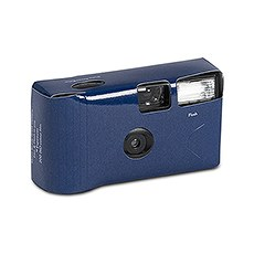 Navy Blue Single Use Camera - Solid Color Design