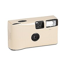 Ivory Single Use Camera - Solid Color Design