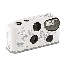 Disposable Camera with Flash - Silver Butterfly Garden