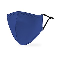 Adult Reusable, Washable 3 Ply Cloth Face Mask With Filter Pocket - Royal Blue