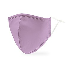 Adult Reusable, Washable 3 Ply Cloth Face Mask With Filter Pocket - Lavender Purple