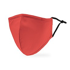 Adult Reusable, Washable 3 Ply Cloth Face Mask With Filter Pocket - Hot Coral